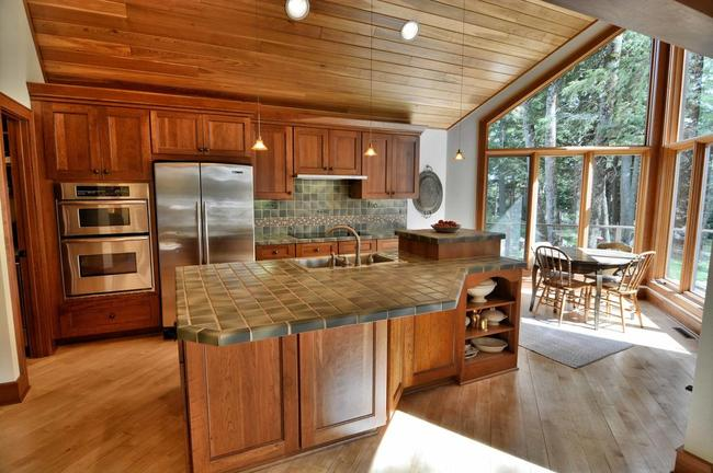 vacation home in cable, wi with a gourmet kitchen