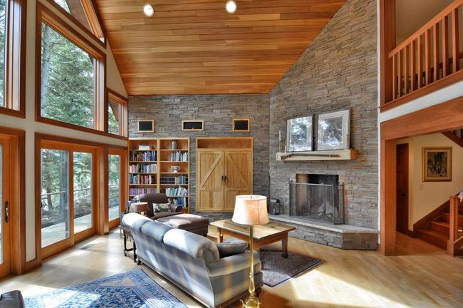spacious living room in a cable, wi vacation home