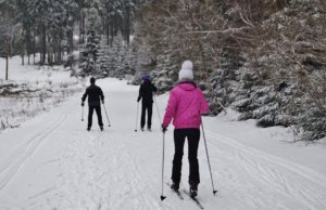 snowshoeing in cable wi