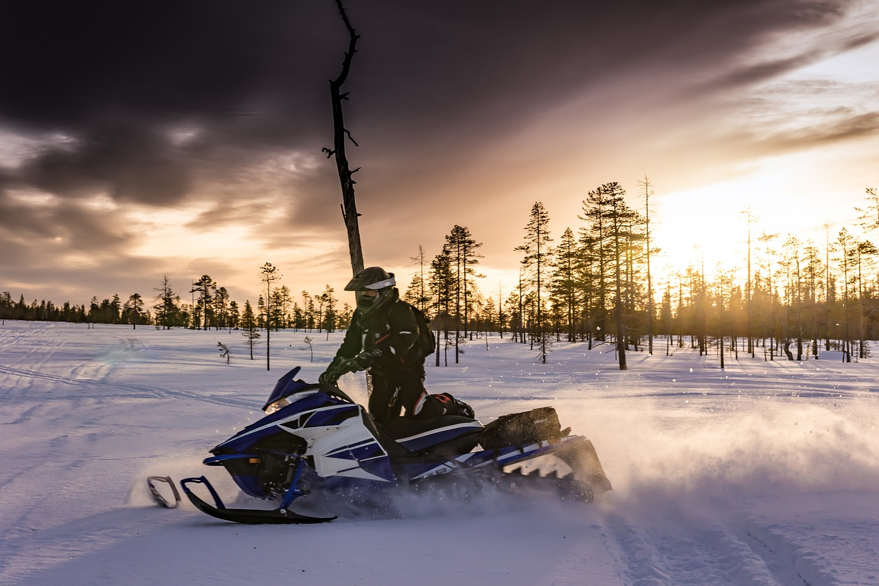 snowmobiling trails are favorite winter activities in lake namekagon