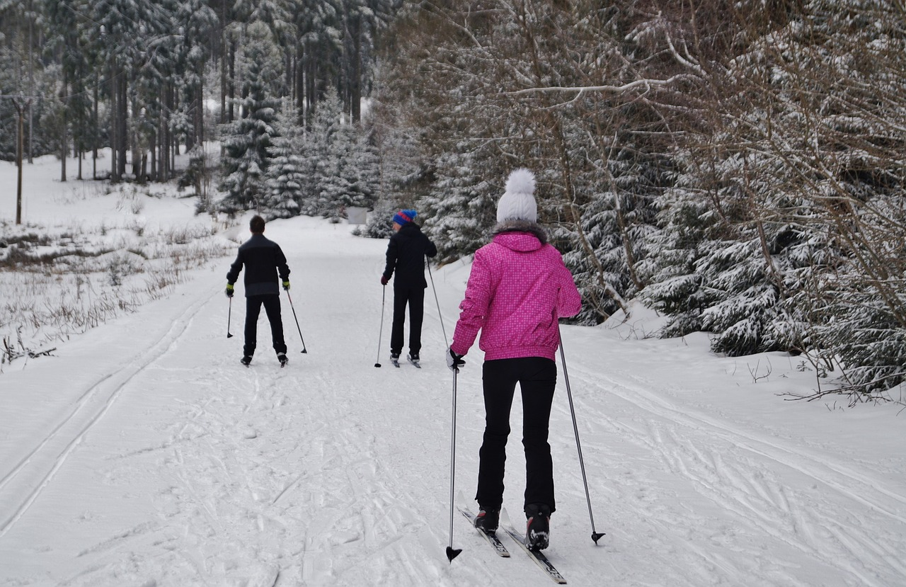 cross country skiing is a favorite winter activity in lake namekagon