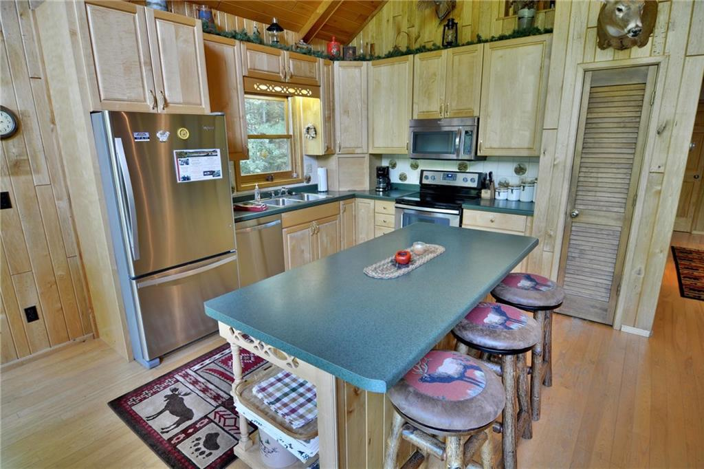 kitchen of 5172 w hwy 77 in clam lake