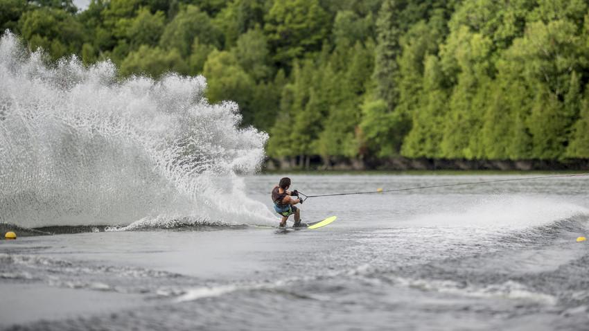 water skiing on lake namekagon