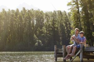 fishing diamond lake in cable wi