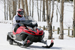 snowmobiling in cable