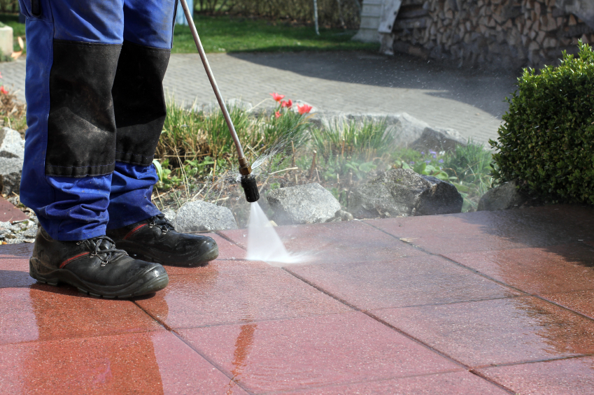 powerwashing a driveway before selling a home