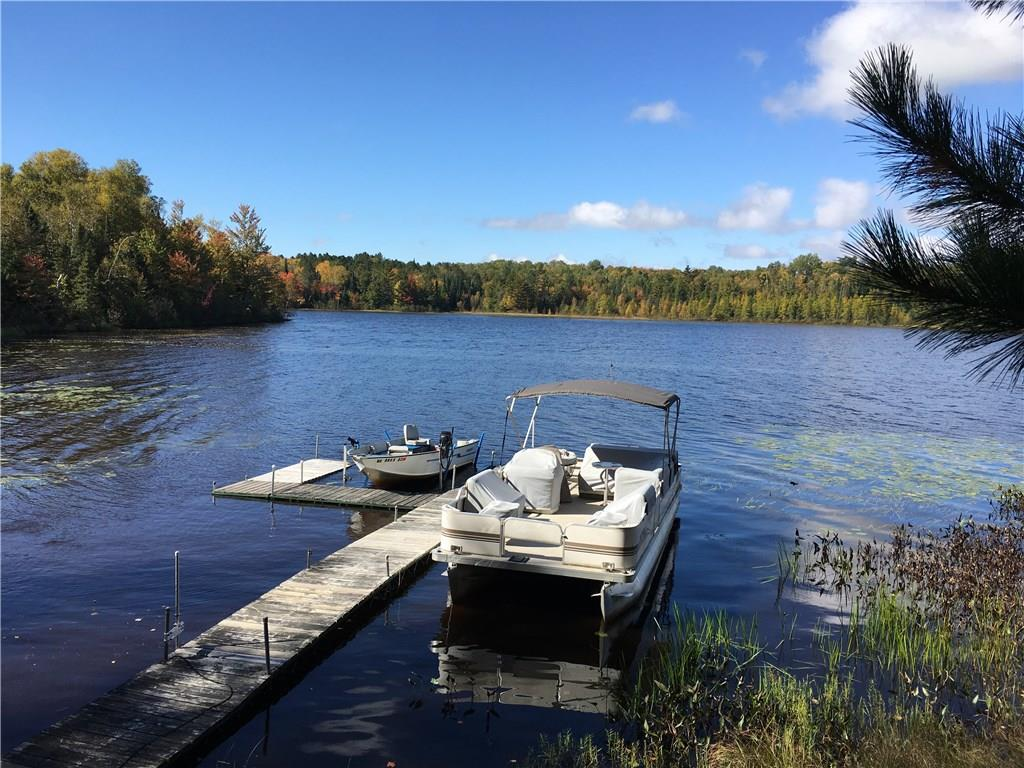 private dock and boat on Ghost Lake
