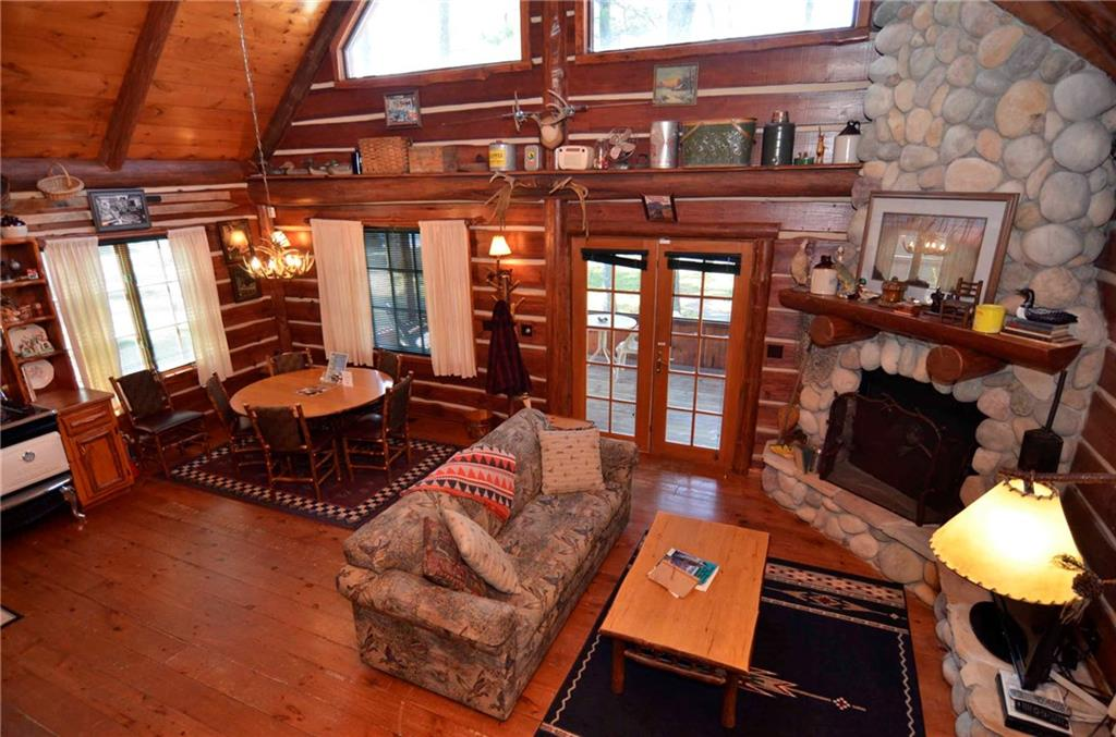 inside of a charming hayward wi cabin for sale