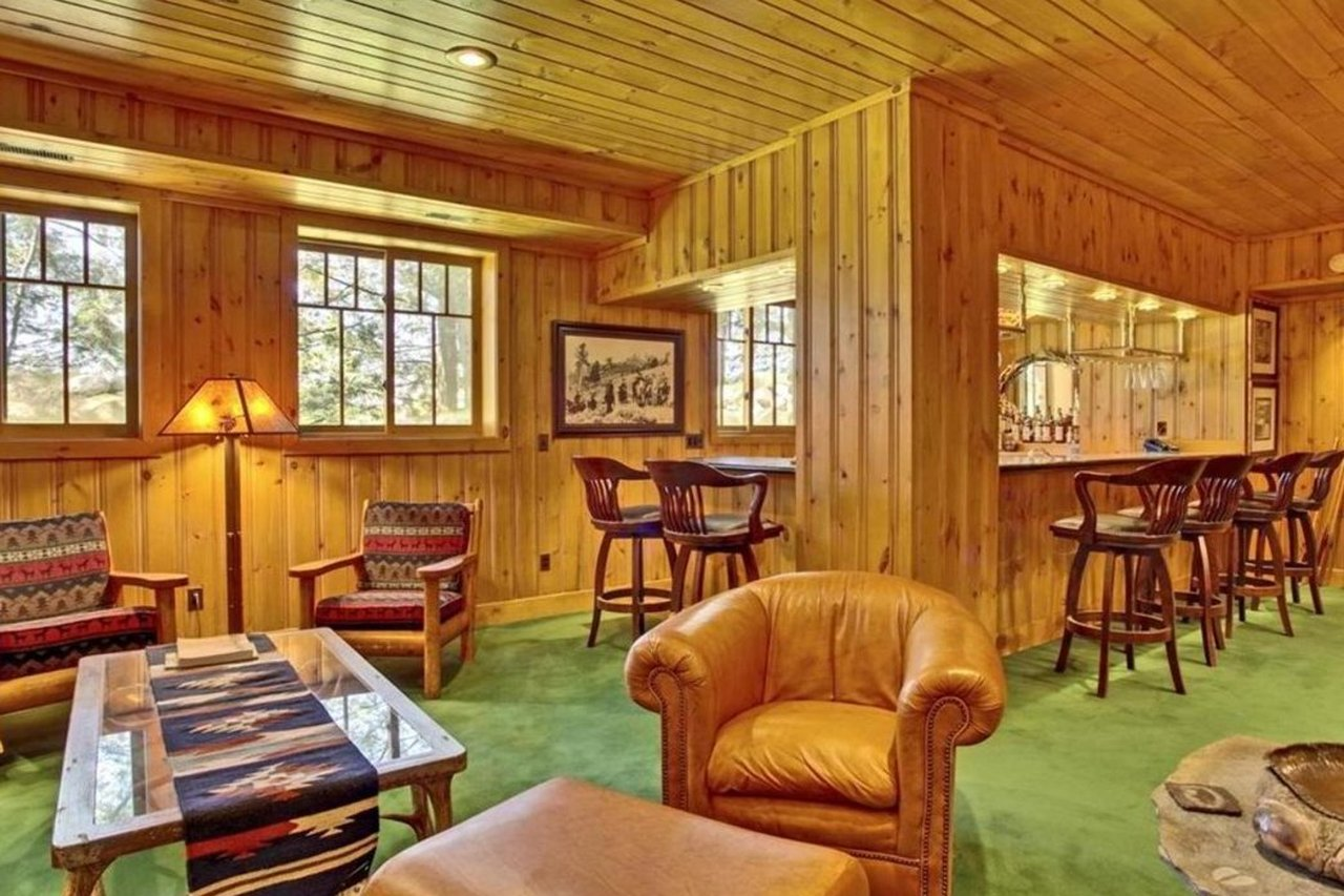 basement recreation room at 47585 Chapinwood Road in Cable WI